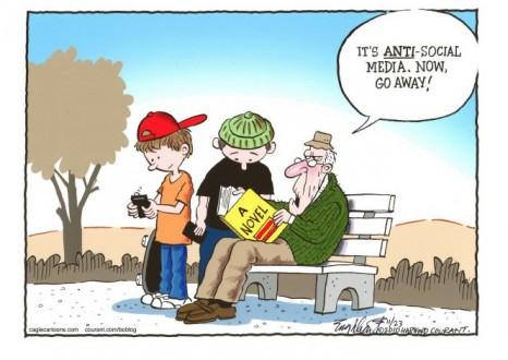 anti social media cartoon